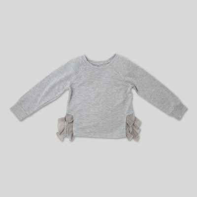 Toddler Girls' Afton Street Long Sleeve Pullover - Ivory - 2T