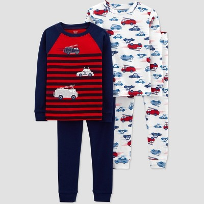 Toddler Boys' 4pc Transportation Pajama Set - Just One You® made by carter's Navy 2T
