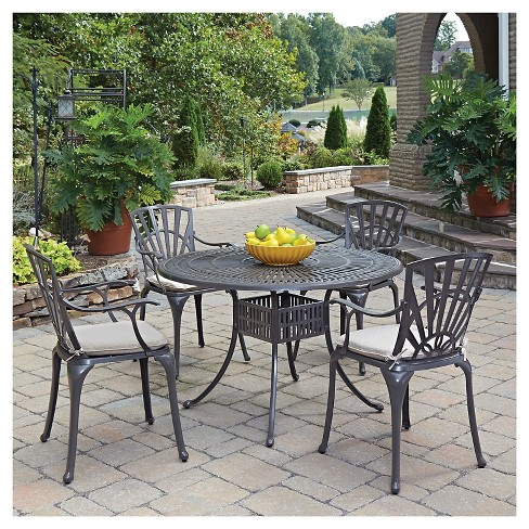 Home Styles Largo 5 Piece Patio Dining Set With Cushions - Taupe - image 1 of 1