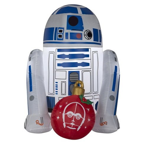 star wars holiday inflatable decoration r2 d2 with ornament - Star Wars Inflatable Christmas Decorations