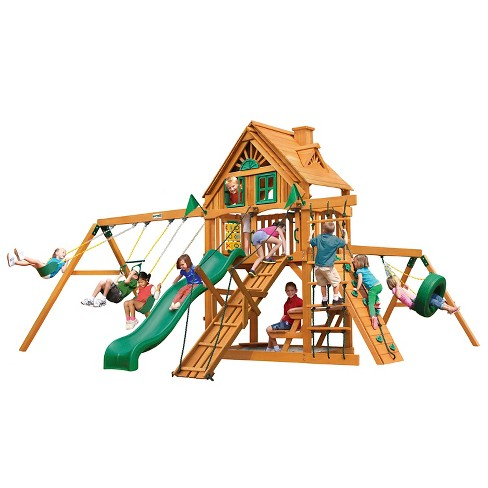 Gorilla Playsets Frontier Treehouse Swing Set - image 1 of 3