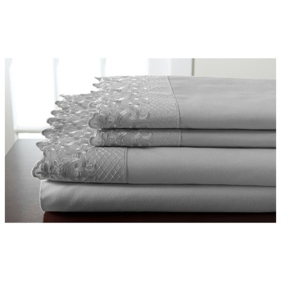 Microfiber Hotel Lace Sheet Set - Elite Home Products