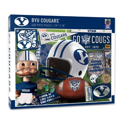 NCAA BYU Cougars Throwback Puzzle 500pc