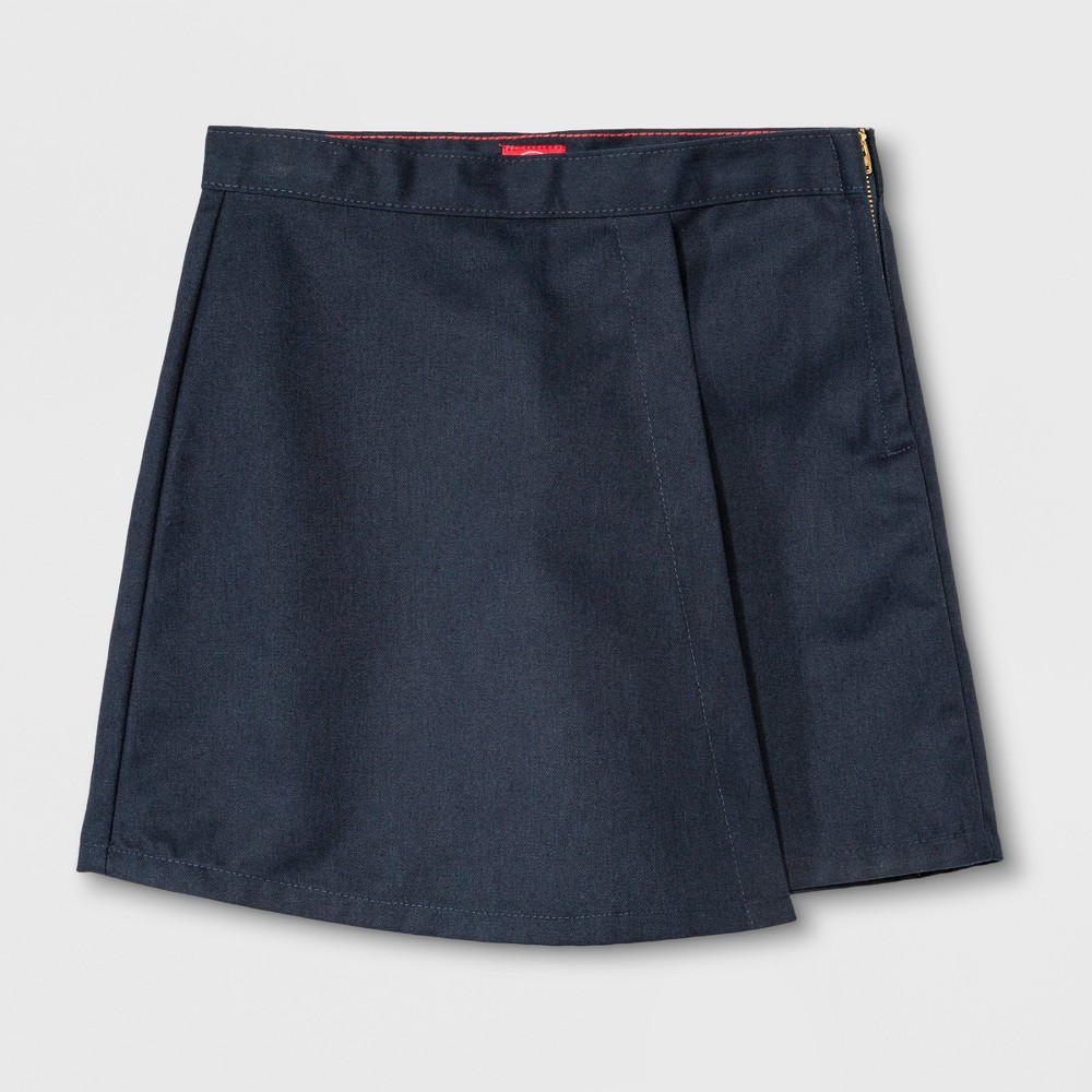 Image of Dickies Girls' Faux Wrap Skort - Dark Navy 12, Girl's, Dark Blue