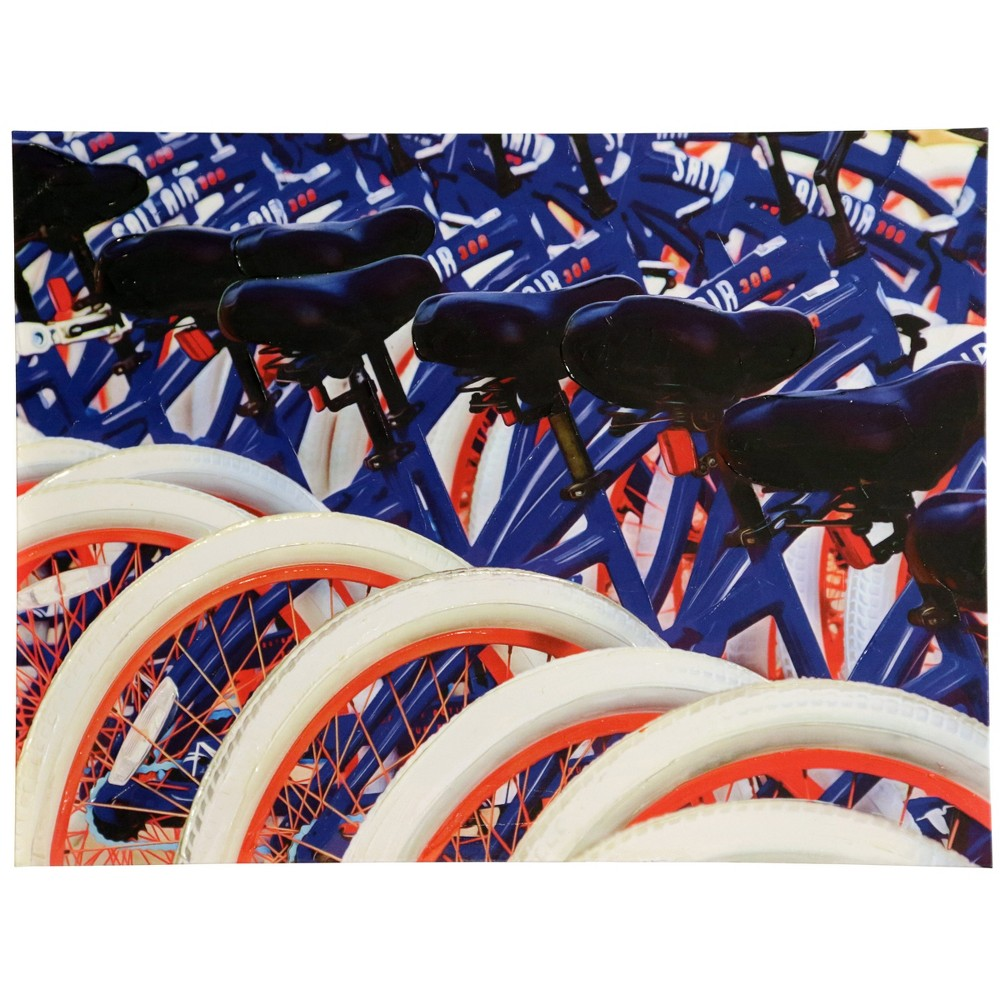 30 Bicycles Print Stretched Canvas Decorative Wall Art - StyleCraft, Multi-Colored