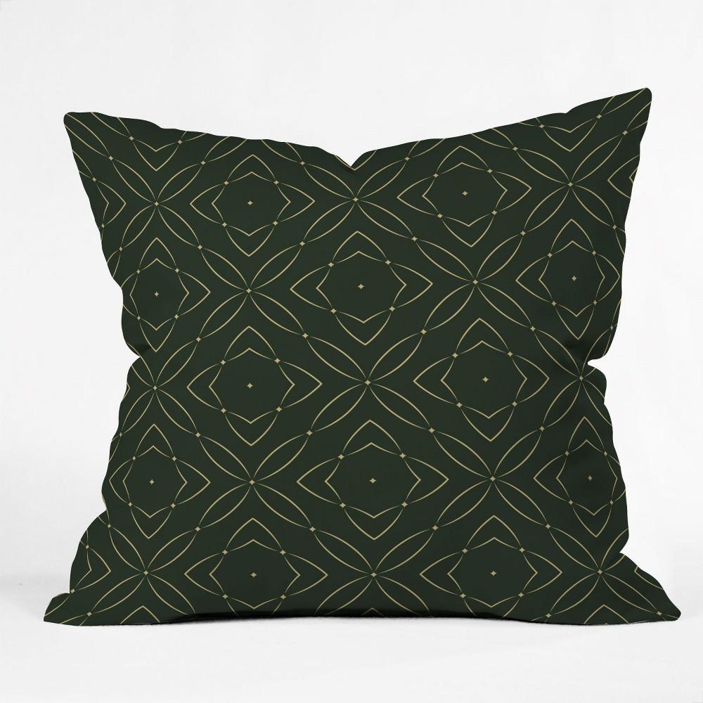 Marta Barragan Camarasa Vintage Emerald Pattern Oversize Square Throw Pillow Green Deny Designs