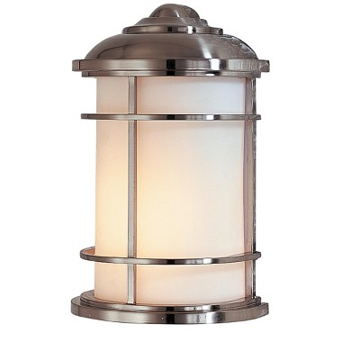 Generation Lighting Lighthouse 1 light Brushed Steel Outdoor Fixture OL2203BS