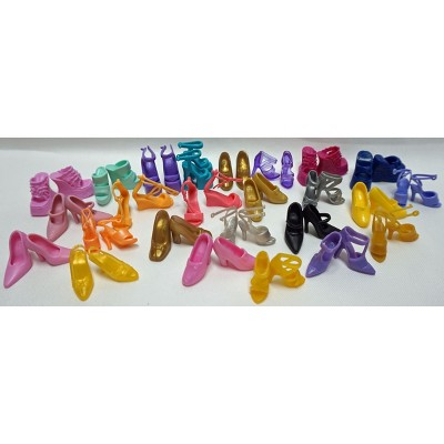 Doll Clothes Superstore 25 Sets Of Fashion Doll Shoes Fits Barbie Doll Foot and 11 1/2 inch Dolls