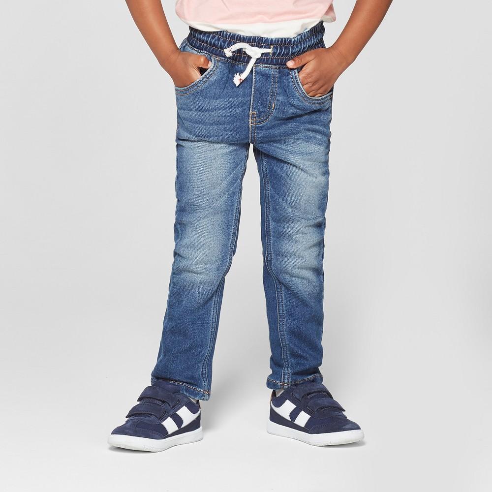 Toddler Boys' Skinny Jeans - Cat & Jack Medium Blue 3T