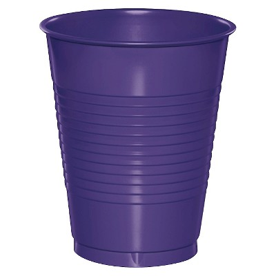 20ct Purple Disposable Cups