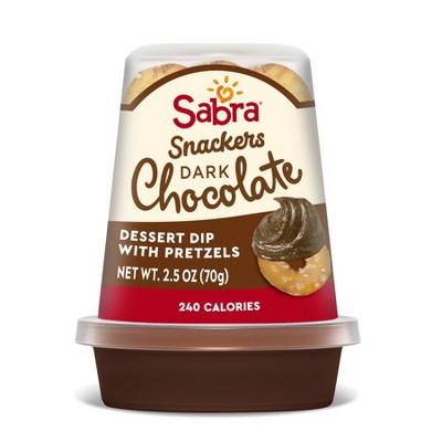 Sabra Dark Chocolate Dessert Dip with Pretzels - 2.5oz