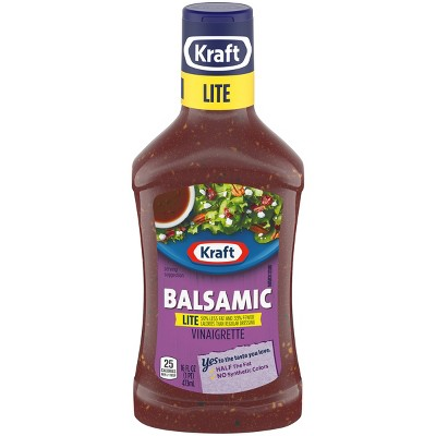 Kraft Balsamic Vinaigrette Lite Salad Dressing - 16oz