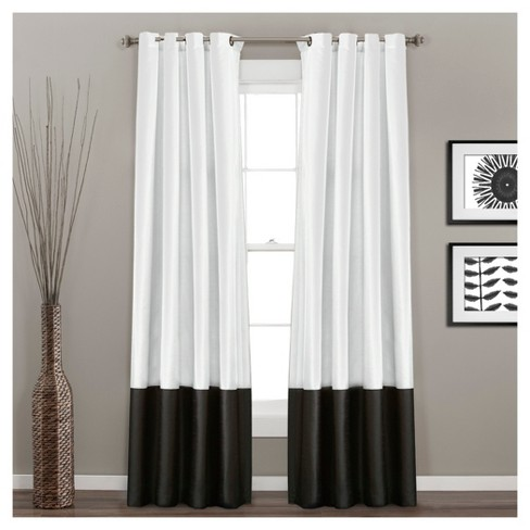 Set of 2 Prima Light Filtering Window Curtain Panels - Lush Décor - image 1 of 1