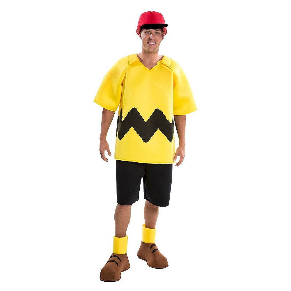 Image of Halloween Men's Peanuts Charlie Brown Costume - Large, Yellow