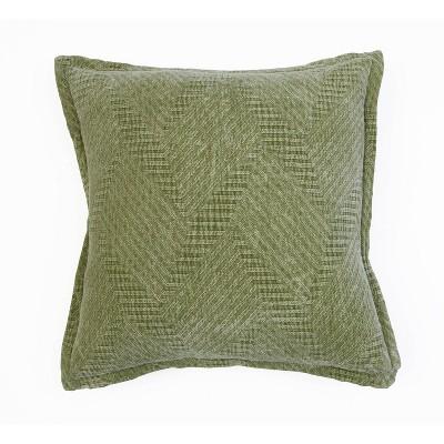 """18""""x18"""" Rhea Woven Cotton Pillow Green - Décor Therapy"""