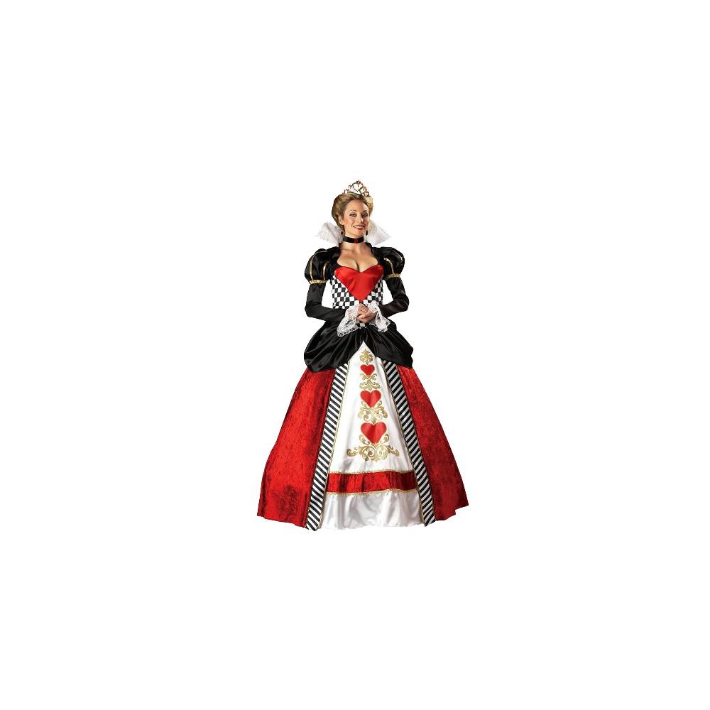 Queen of Hearts Women's Elite Costume - XL, Black