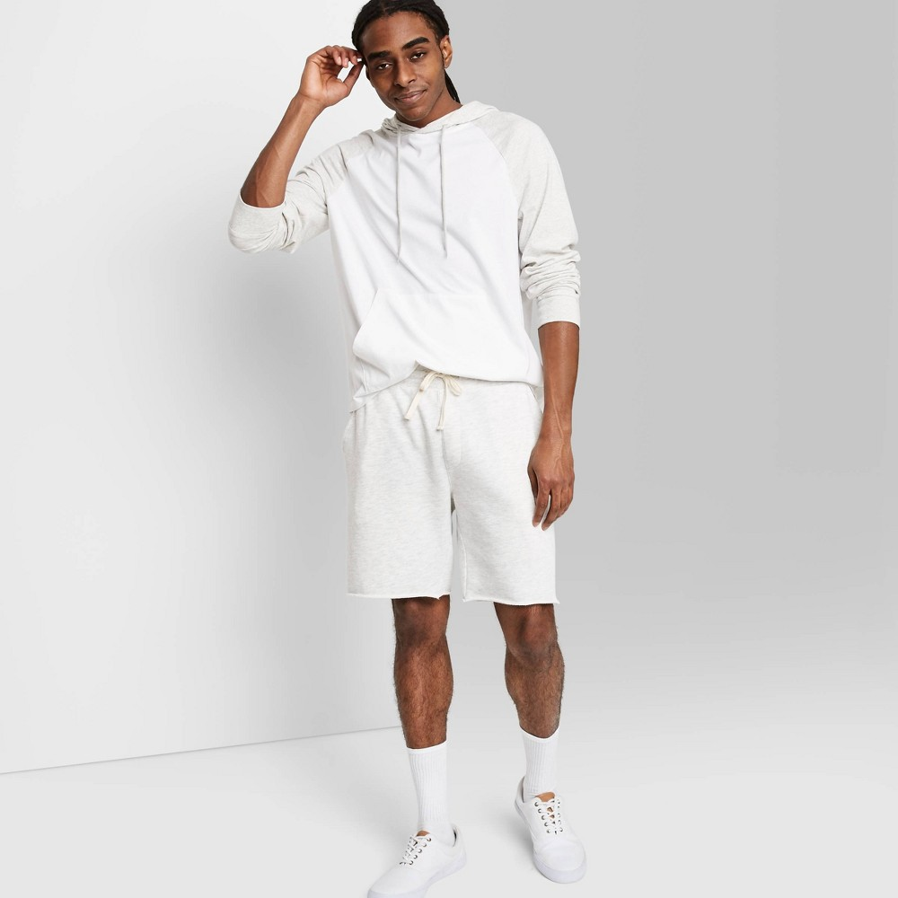 Men 39 S Regular Fit 8 5 34 Knit Jogger Shorts Original Use 8482 White L