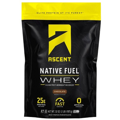 Ascent Native Fuel Whey Protein Powder - Chocolate - 2lbs
