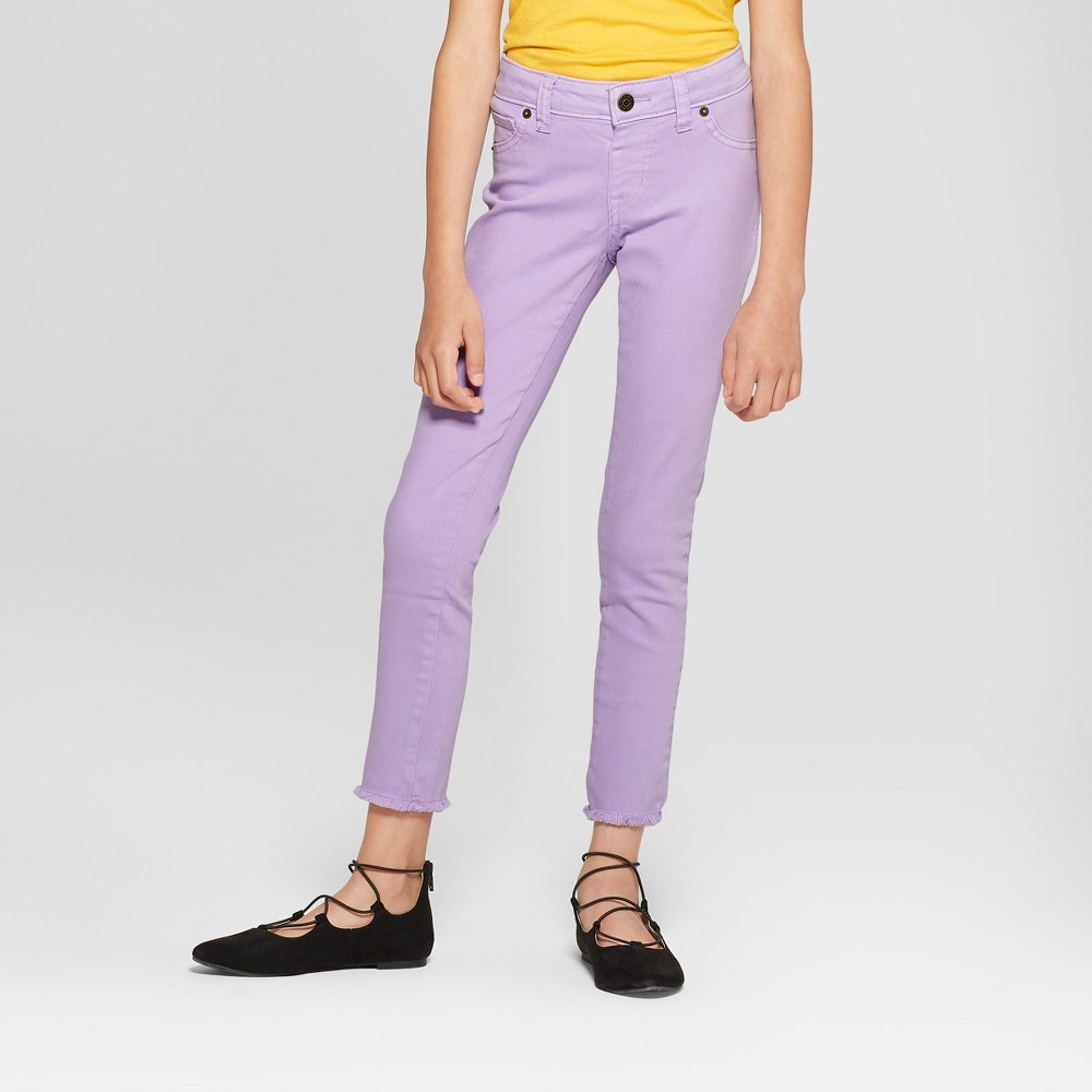 Girls' Skinny Jeans - Cat & Jack Violet 12, Purple