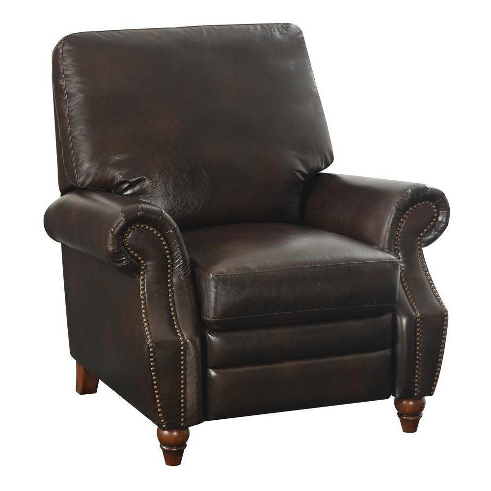 Tori Nailhead Recliner Antique Brown - Dorel Living