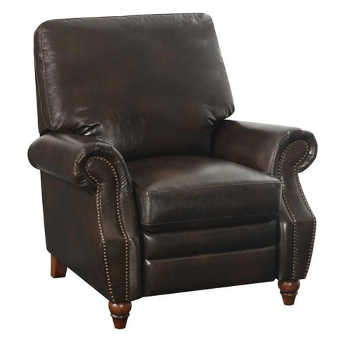 Tori Nailhead Recliner Antique Brown - Dorel Living - image 1 of 8