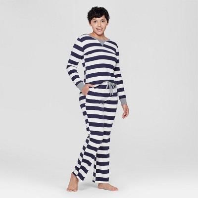 Women's Striped Pajama Set - Navy XL