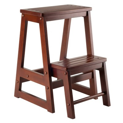 Double Step Stool Antique Walnut - Winsome