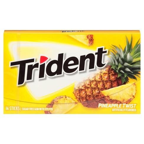Trident Pineapple Twist Sugar Free Chewing Gum 14ct Target