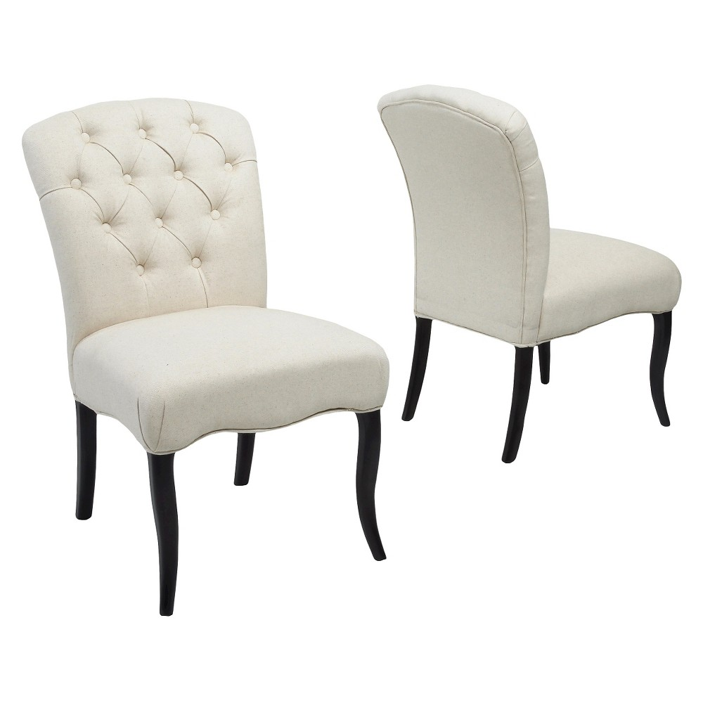 Hallie Fabric Dining Chair Set 2ct White - Christopher Knight Home was $308.99 now $200.84 (35.0% off)