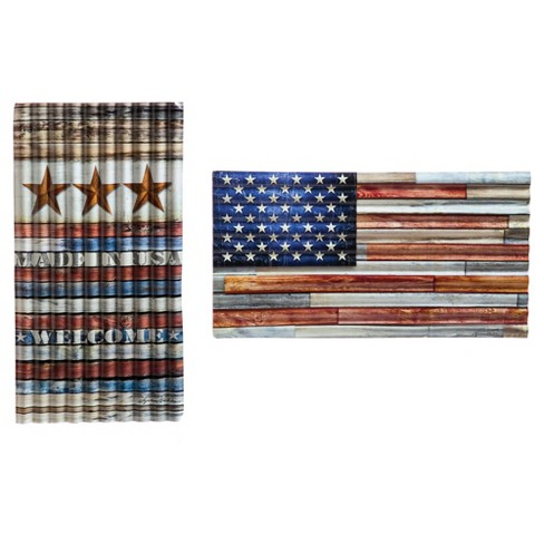 USA Metal Corrugated Outdoor Wall Sign - image 1 of 1