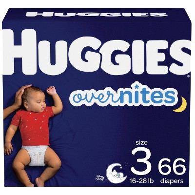 Huggies Overnites Nighttime Diapers Super Pack - Size 3 (66ct)