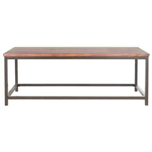 Alec Coffee Table - Maroon/Brown - Safavieh - image 1 of 4