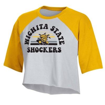 NCAA Wichita State Shockers Women's Short Sleeve Cropped T-Shirt