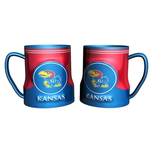Kansas Jayhawks Boelter Brands 2 Pack Game Time Coffee Mug - Blue (20 oz) - image 1 of 1