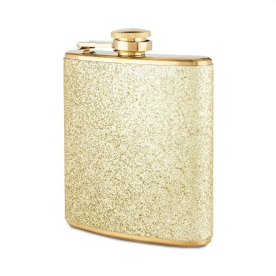 True Fabrications 6oz Stainless Steel Party Flask - Gold