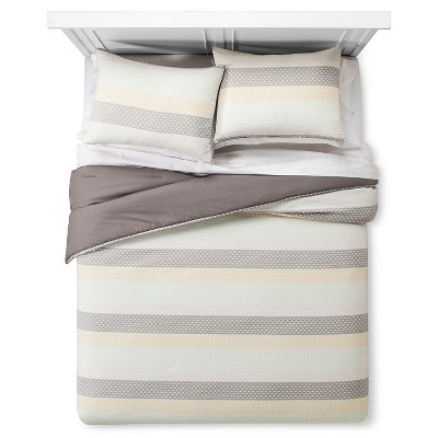 Woven Geometric Stripe Comforter Set (Full/Queen)3pc - Threshold™