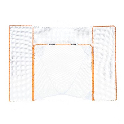 EZ Goals Portable Folding Lacrosse Practice Net Goal with Backstop and Targets