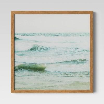 """16"""" x 16"""" Ocean Framed Print - Threshold™"""