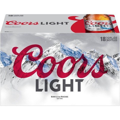 Coors Light Beer - 18pk/12 fl oz Bottles - image 1 of 3