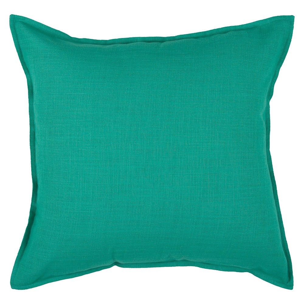 Turquoise Solid Throw Pillow 20