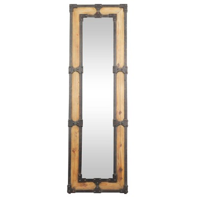 "67"" x 21"" Rustic Wooden Framed Wall Mirror - Olivia & May"