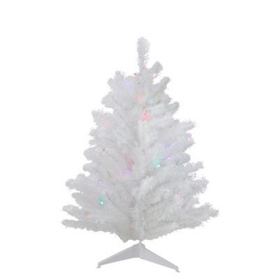 Northlight 3' Pre-Lit LED Snow White Artificial Christmas Tree - Multi Lights