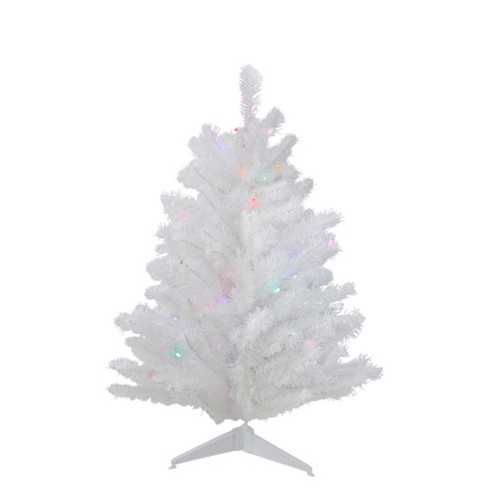 Northlight 3 Pre Lit Led Snow White Artificial Christmas Tree Multi Lights
