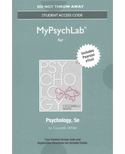 Psychology Access Code : Includes Pearson Etext (Hardcover) (Saundra K. Ciccarelli & J. Noland White) - image 1 of 1