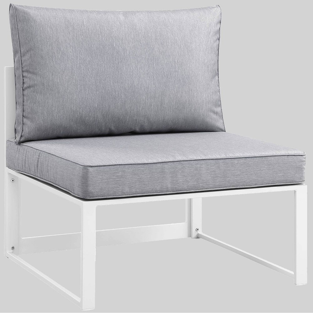 Fortuna Armless Outdoor Patio Sofa Gray - Modway