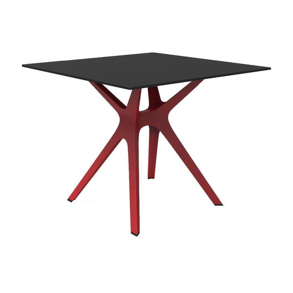Vela S Square Patio Table - Red - Resol