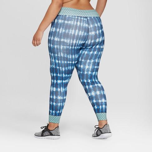 5850ad9b4d2 Women s Plus Size 7 8 Printed Mid-Rise Leggings with Draw Cord - JoyLab™  Navy 3X   Target