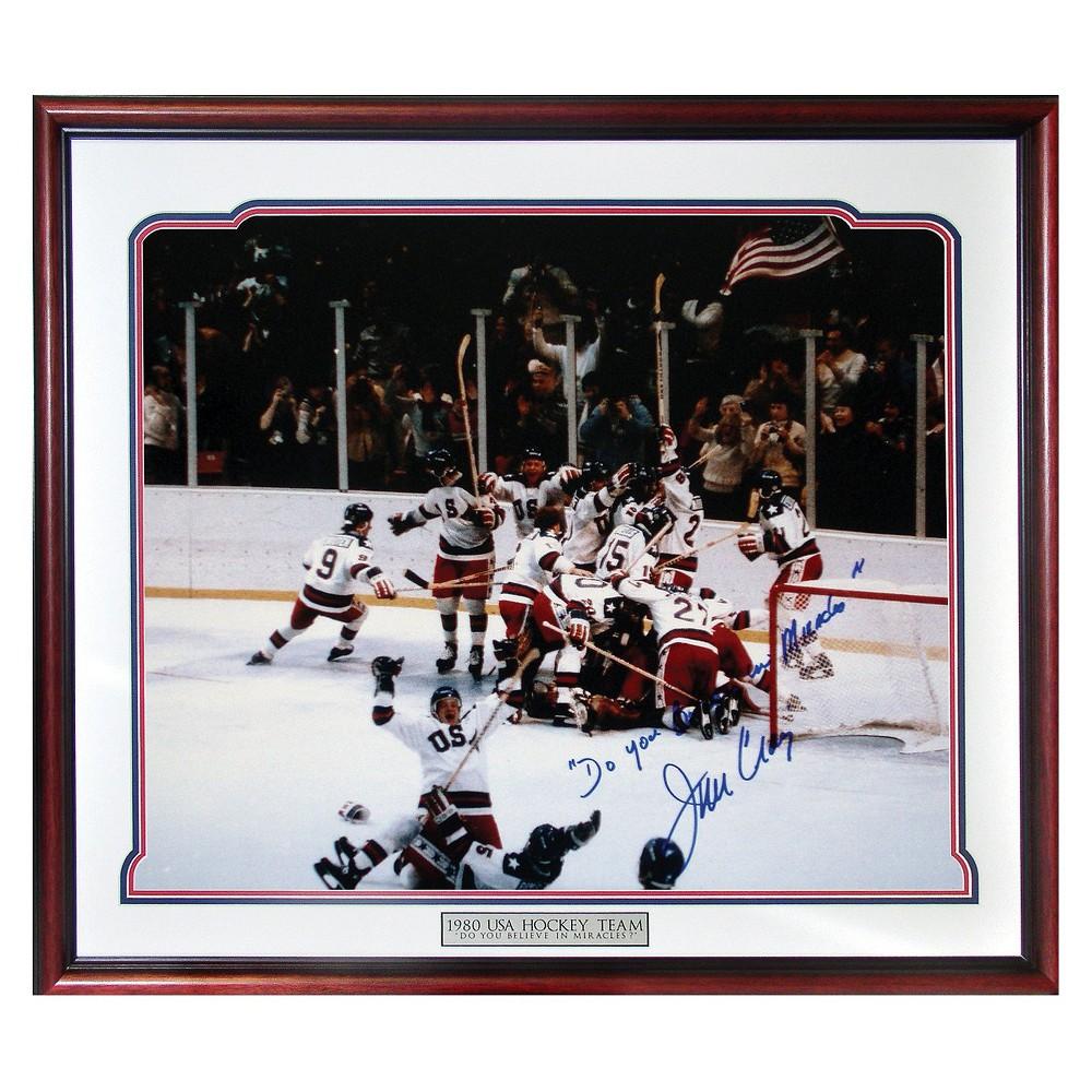 Jim Craig 1980 USA Celebration Autographed Picture with