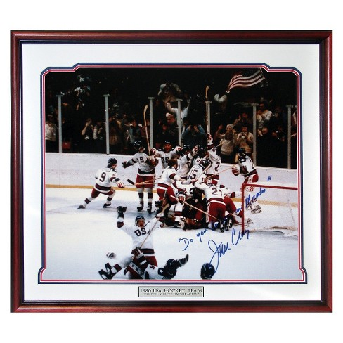 "Jim Craig 1980 USA Celebration Autographed Picture with ""Do You Believe in Miracles?"" Inscription - image 1 of 1"