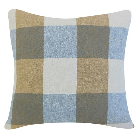 "Coal Big Buffalo Check Throw Pillow (18""x18"") - The Pillow Collection - image 1 of 2"